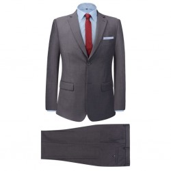 stradeXL 2-częściowy garnitur biznesowy męski szary rozmiar 50