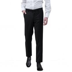stradeXL Spodnie od garnituru męskie czarne rozmiar 48