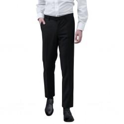 stradeXL Spodnie od garnituru męskie czarne rozmiar 52