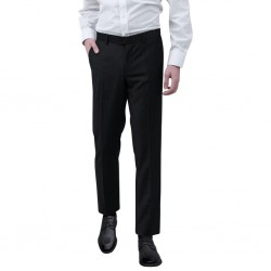 stradeXL Spodnie od garnituru męskie czarne rozmiar 54