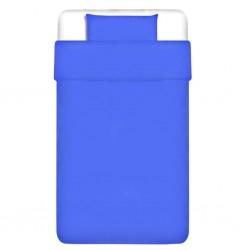 stradeXL Zestaw pościeli, bawełna, niebieski, 155x200/80x80 cm