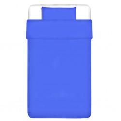 stradeXL Zestaw pościeli, bawełna, niebieski, 155x220/80x80 cm