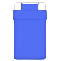 stradeXL Duvet Cover Set Cotton Blue 155x220/60x70 cm