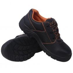 stradeXL Buty ochronne czarne, rozmiar 44, skórzane