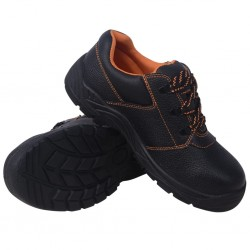 stradeXL Buty ochronne czarne, rozmiar 45, skórzane