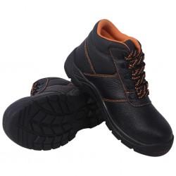 stradeXL Buty ochronne czarne, rozmiar 42, skórzane