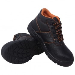 stradeXL Buty ochronne czarne, rozmiar 46, skórzane