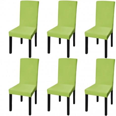 stradeXL Elastyczne pokrowce na krzesła w prostym stylu, 6 szt., zielone