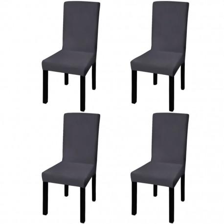 stradeXL Elastyczne pokrowce na krzesła, 4 szt., antracytowe
