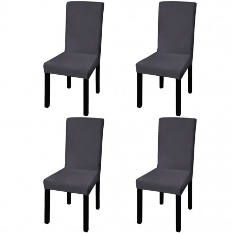 stradeXL Straight Stretchable Chair Cover 4 pcs Anthracite