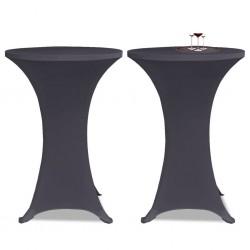 stradeXL Elastyczne nakrycie stołu antracytowe 2 szt. 60 cm