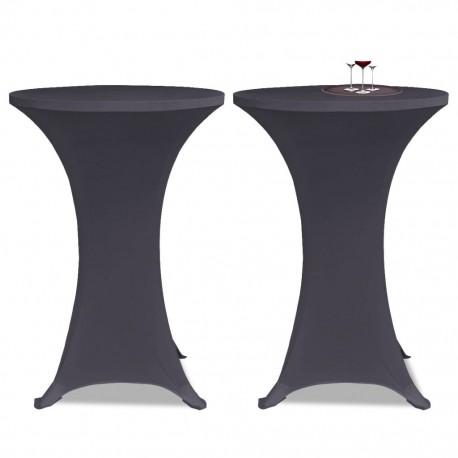 stradeXL Elastyczne nakrycie stołu antracytowe 2 szt. 70 cm