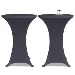 stradeXL Elastyczne nakrycie stołu antracytowe 2 szt. 80 cm