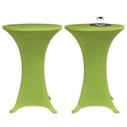stradeXL Elastyczne nakrycie stołu zielone 2 szt. 80 cm