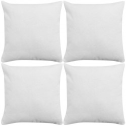 stradeXL Cushion Covers 4 pcs Linen-look White 80x80 cm