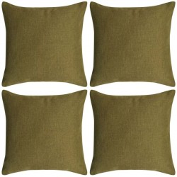 stradeXL Cushion Covers 4 pcs Linen-look Green 80x80 cm
