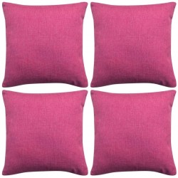 stradeXL Cushion Covers 4 pcs Linen-look Pink 80x80 cm