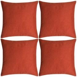stradeXL Poszewki na poduszki 4 szt. lniane, terakota 40x40 cm