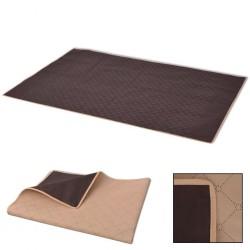 stradeXL Picnic Blanket Beige and Brown 100x150 cm