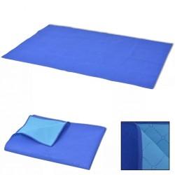 stradeXL Koc piknikowy niebieski i błękitny, 150x200 cm