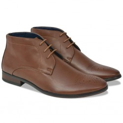 stradeXL Męskie sznurowane buty, brązowe, rozmiar 43, skóra sztuczna