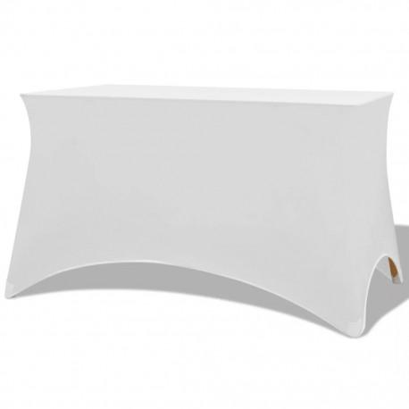 stradeXL Elastyczne pokrowce na stół 183x76x74 cm, 2 szt., białe