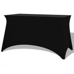 stradeXL Elastyczne pokrowce na stół, 2 szt.,183x76x74 cm, czarne