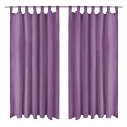 stradeXL Micro-Satin Curtains 2 pcs with Loops 140x245 cm Lilac