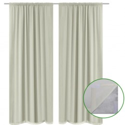 stradeXL Blackout Curtains 2 pcs Double Layer 140x175 cm Cream