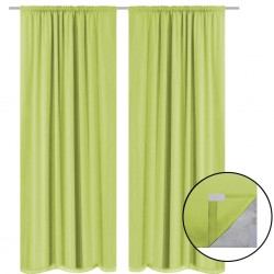 stradeXL Blackout Curtains 2 pcs Double Layer 140x175 cm Green