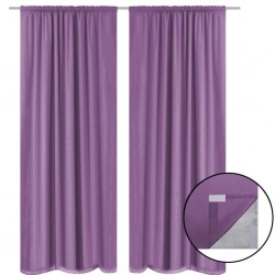 stradeXL Blackout Curtains 2 pcs Double Layer 140x175 cm Lilac