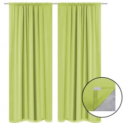 stradeXL Blackout Curtains 2 pcs Double Layer 140x245 cm Green