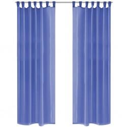stradeXL Voile Curtains 2 pcs 140x225 cm Royal Blue