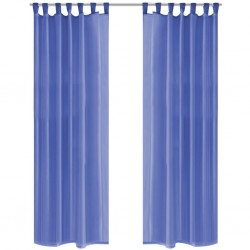 stradeXL Voile Curtains 2 pcs 140x245 cm Royal Blue