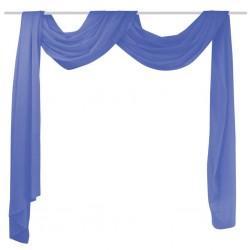 stradeXL Draperia z woalu, 140 x 600 cm, niebieska