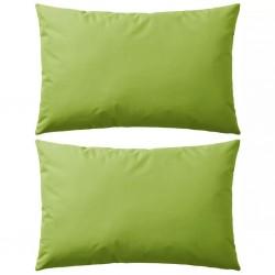stradeXL Poduszki na zewnątrz, 2 sztuki, 60x40 cm, zielone jabłuszko