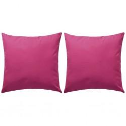 stradeXL Poduszki na zewnątrz, 2 sztuki, 45x45 cm, różowe
