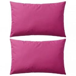 stradeXL Poduszki na zewnątrz, 2 sztuki, 60x40 cm, kolor różowy