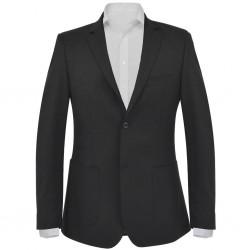 stradeXL Marynarka biznesowa męska, rozmiar 46, czarna