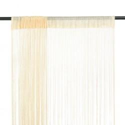 stradeXL String Curtains 2 pcs 100x250 cm Cream