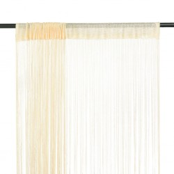 stradeXL Zasłony sznurkowe, 2 sztuki, 100 x 250 cm, kremowe