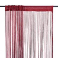stradeXL String Curtains 2 pcs 140x250 cm Burgundy