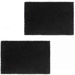 stradeXL Doormats 2 pcs Coir 24 mm 50x80 cm Black