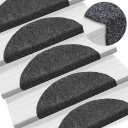 stradeXL Samoprzylepne nakładki na schody, 15 szt., 54x16x4 cm, szare