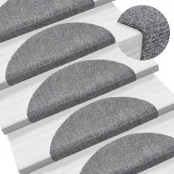 stradeXL Samoprzylepne nakładki na schody 15 szt, 54x16x4 cm, jasnoszare