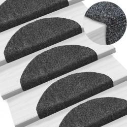 stradeXL 15pcs Self-adhesive Stair Mats Needle Punch 65x21x4cm Dark Grey