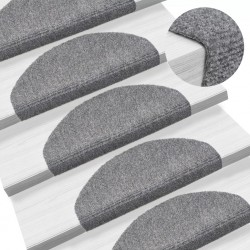 stradeXL Samoprzylepne nakładki na schody, 15 szt., 65x21x4 cm, szare