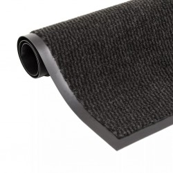 stradeXL Dust Control Mat Rectangular Tufted 90x150 cm Black