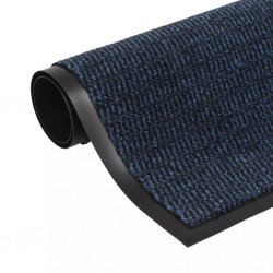 stradeXL Prostokątna wycieraczka przed drzwi 90 x 150 cm, niebieska
