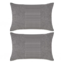 stradeXL 2-częściowy zestaw poduszek z weluru w kolorze szarym 40x60 cm